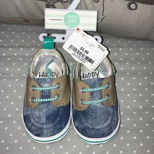 Denim boat shoes